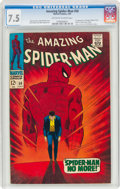 Silver Age (1956-1969):Superhero, The Amazing Spider-Man #50 (Marvel, 1967) CGC VF- 7.5 Off-white to white pages....