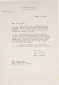 Baseball Collectibles:Others, 1968 Jackie Robinson Signed Letter. ...