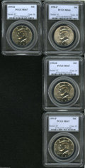 Kennedy Half Dollars: , 1998-P 50C MS66 PCGS,... (4 )