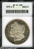 1879-O $1 MS61 Deep Mirror Prooflike ANACS. Russet toning around the rims, with deeply mirrored fields that offer a stro...