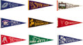 Football Collectibles:Others, 1960's AFL & NFL Pennants Lot of 8....