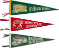 Baseball Collectibles:Others, 1940's Negro League Pennants Lot of 6....