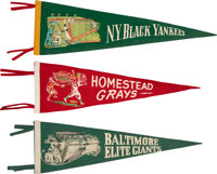 1940's Negro League Pennants Lot of 6