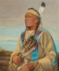 Paintings, Henry Metzger (Canadian/French, 1876-1949). Chief Mato (Jumping Bear) Souix Indian. Oil on canvas. 24 x 20 inches (61.0 ...