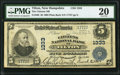 National Bank Notes:New Hampshire, Tilton, NH - $5 1902 Plain Back Fr. 598 The Citizens NB Ch. # 1333 PMG Very Fine 20.. ...