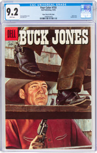 Four Color #733 Buck Jones - Mile High Pedigree (Dell, 1956) CGC NM- 9.2 White pages