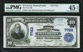 National Bank Notes:Pennsylvania, Trevorton, PA - $10 1902 Plain Back Fr. 624 The First NB Ch. # 7722 PMG Choice Extremely Fine 45 EPQ.. ...