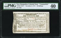 Colonial Notes:New Hampshire, New Hampshire Counterfeit November 3, 1775 40s PMG Extremely Fine 40.. ...