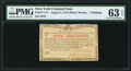 Colonial Notes:New York, New York August 2, 1775 (Water Works) 4s PMG Choice Uncirculated 63 EPQ.. ...