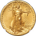 High Relief Double Eagles, 1907 $20 High Relief, Wire Rim MS63 NGC. CAC....