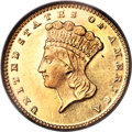 Gold Dollars, 1875 G$1 MS63 PCGS....