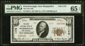Peterborough, NH - $10 1929 Ty. 2 The First NB Ch. # 1179 PMG Gem Uncirculated 65 EPQ