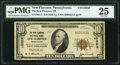 National Bank Notes:Pennsylvania, New Florence, PA - $10 1929 Ty. 1 The New Florence NB Ch. # 10353 PMG Very Fine 25.. ...