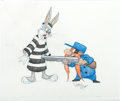 Animation Art:Production Drawing, Virgil Ross - Bugs Bunny and Yosemite Sam Drawing (Warner Brothers, c. 1990s). ...