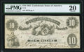 Confederate Notes:1861 Issues, T10 $10 1861 PF-16 Cr. 36 PMG Very Fine 20.. ...