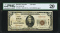 National Bank Notes:Nevada, McGill, NV - $20 1929 Ty. 1 The McGill NB Ch. # 9452 PMG Very Fine 20.. ...