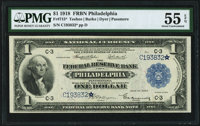 Fr. 715* $1 1918 Federal Reserve Bank Note PMG About Uncirculated 55 EPQ