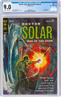 Doctor Solar, Man of the Atom #3 (Gold Key, 1963) CGC VF/NM 9.0 Off-white to white pages