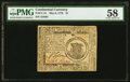 Colonial Notes:Continental Congress Issues, Continental Currency May 9, 1776 $1 PMG Choice About Unc 58.. ...
