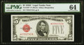 Small Size:Legal Tender Notes, Fr. 1528* $5 1928C Legal Tender Note. PMG Choice Uncirculated 64.. ...