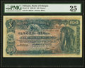 World Currency, Ethiopia Bank of Ethiopia 100 Thalers 1.5.1932 Pick 10 PMG Very Fine 25.. ...