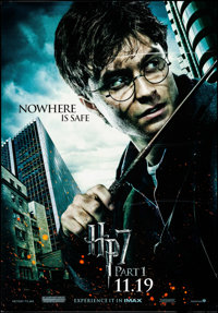 Harry Potter and the Deathly Hollows: Part 1 (Warner Brothers, 2010). Rolled, Overall: Very Fine+. Bus Shelters (3) (47...