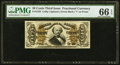 Fractional Currency:Third Issue, Fr. 1333 50¢ Third Issue Spinner PMG Gem Uncirculated 66 EPQ.. ...