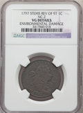 Large Cents, 1797 1C Reverse of 1797, Stems, NC-2, B-10, R.6 -- Environmental Damage -- NGC Details. VG....