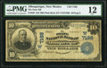 National Bank Notes:New Mexico, Albuquerque, NM - $10 1902 Plain Back Fr. 628 The State NB Ch. # (W)7186 PMG Fine 12.. ...