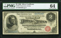 Large Size:Silver Certificates, Fr. 240 $2 1886 Silver Certificate PMG Choice Uncirculated 64.. ...