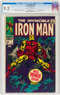 Silver Age (1956-1969):Superhero, Iron Man #1 (Marvel, 1968) CGC NM- 9.2 Cream to off-white pages....