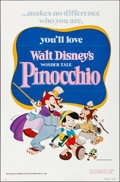 """Movie Posters:Animation, Pinocchio (Buena Vista, R-1978/R-1984). Flat Folded & Rolled,Very Fine. One Sheet (27"""" X 41"""") & Insert (14"""" X 36"""").Animati... (Total: 2 Items)"""