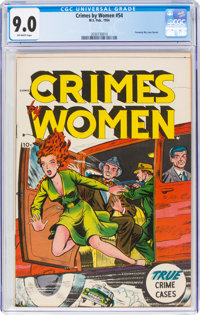 Crimes by Women #54 (Fox Features Syndicate, 1954) CGC VF/NM 9.0 Off-white pages