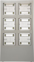 Glass, Frank Lloyd Wright (American, 1867-1959). Six Skylight Windows from the Avery Coonley House, Riverside, Illinois, 1912. ...