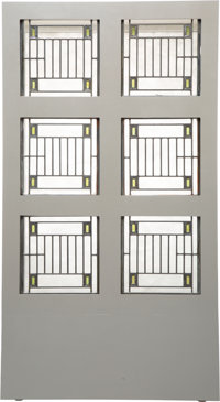 Frank Lloyd Wright (American, 1867-1959) Six Skylight Windows from the Avery Coonley House, Riverside, Illinois