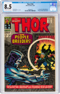Silver Age (1956-1969):Superhero, Thor #134 (Marvel, 1966) CGC VF+ 8.5 Off-white to white pages....