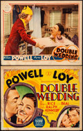 "Movie Posters:Comedy, Double Wedding (MGM, 1937). Fine. Title Lobby Card & Lobby Card(11"" X 14""). Comedy.. ... (Total: 2 Items)"
