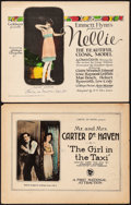 """Movie Posters:Comedy, The Girl in the Taxi & Other Lot (First National, 1921).Fine/Very Fine. Title Lobby Cards (2) (11"""" X 14""""). Comedy.. ...(Total: 2 Items)"""