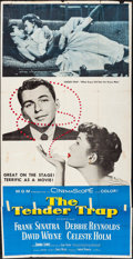 "Movie Posters:Comedy, The Tender Trap (MGM, 1955). Folded, Fine+. Three Sheet (41"" X 77.5""). Comedy.. ..."