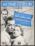 "Movie Posters:Academy Award Winners, ""As Time Goes By"" from Casablanca (Warner Brothers, 1942). Folded, Very Fine-. Sheet Music (8 Pages, 9"" X 12""). Academy Awar..."