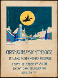 Movie Posters:Fantasy, Christmas Dreams of Mother Goose by W. G. Grant (St. Mark's, 1923).Fine+. Original Gouache Artwork on Illustration Board (1...