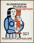 "Movie Posters:Miscellaneous, Guggenheim Museum Exhibition at the Philadelphia Museum of Art (1961). Fine/Very Fine. Advertising Poster (15"" X 19"") Fernan..."