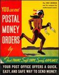 "Movie Posters:Miscellaneous, Postal Money Orders (U.S. Government Printing Office, 1938). VeryFine- on Linen. Advertising Poster (12.75"" X 16.25""). Misc..."