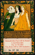 """Movie Posters:Miscellaneous, R. R. Donelly & Sons Co. Calendar (R. R. Donelly & SonsCo., 1894). Fine/Very Fine. Calendar (13.25"""" X 21"""") BlancheOstertag..."""