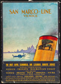 """Movie Posters:Miscellaneous, San Marco Line (1930s). Fine/Very Fine. Italian Travel Poster (9.5""""X 13.5""""). Miscellaneous.. ..."""