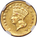 Gold Dollars, 1860-D G$1 -- Improperly Cleaned -- NGC Details. AU. Variety 12-P....