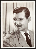 "Movie Posters:Miscellaneous, Clark Gable & Other Lot (MGM, Early 1940s). Overall: Very Fine.Fan Club Photos (4) (5"" X 7"") with Original Envelope...."