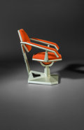 Furniture , Frank Lloyd Wright (American, 1867-1959). Casual Armchair from Price Tower, Bartlesville, Oklahoma, 1956. Cast aluminum,...