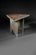 Furniture :American, Frank Lloyd Wright (American, 1867-1959). Table from Price Tower, Bartlesville Oklahoma, 1956. Copper and wood. 28-1/2 x...