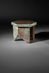 Frank Lloyd Wright (American, 1867-1959) Stool from Price Tower, Bartlesville, Oklahoma, 1956 Copper